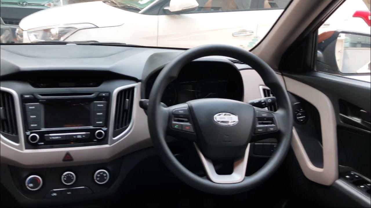 Hyundai Creta E Plus Petrol Earth Brown Colour Interior
