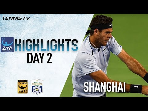 Monday Highlights: Del Potro, Chung Advance In Shanghai 2017