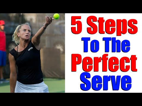Tennis Serve Lesson | 5 Steps To A Great WTA Serve
