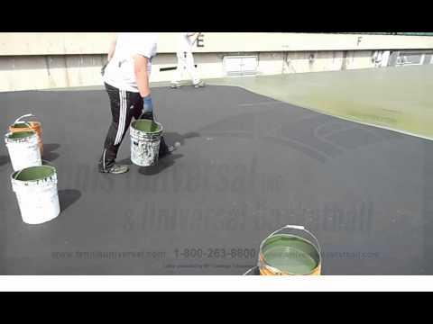 How to Paint a Tennis Court/Basketball Court/Sport