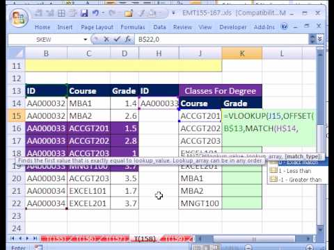 Excel Magic Trick # 158: VLOOKUP w 2 Variables As Criteria