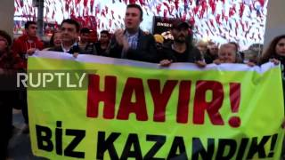 Turkey  Protests against referendum result continue in Istanbul