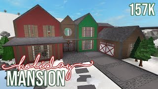 ROBLOX || Bloxburg: Holiday mansion 157k (1 year anniversary) +GIVEAWAY