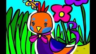 Одевалки животных: Создаем птичку