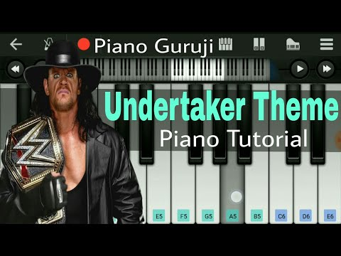 Undertaker Theme Perfect Piano Tutorial + Cover WWE |Slow Version | Easy Mobile Piano - Piano Guruji