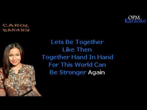 Carol Banawa - Only World (Karaoke)