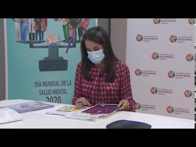 La Reina Letizia mantiene una reunión de trabajo con la Confederación Salud Mental de España