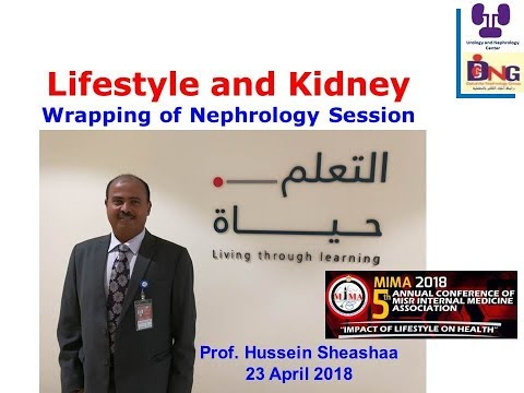 Lifestyle and Kidney, MIMA 2018 prof  Hussein Sheashaa
