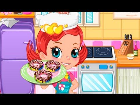 Baked rainbow doughnuts juegos de cocinar youtube - Juegos para aprender a cocinar ...
