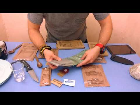 Thumbnail: Review Meal Ready to Eat (MRE) US ARMY Menu 5 chicken, tomato, feta por Christian en español