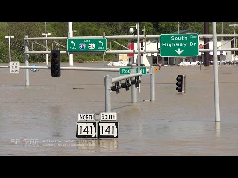 Interstate 44 Flooded St Louis, MO 5-2-17