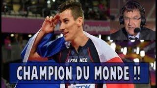 Pierre Ambroise Bosse CHAMPION DU MONDE - 800m Londres, Patrick Montel en feu !