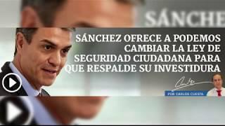 Pedro Sánchez vender a la policía frente a los delincuentes para complacer a Iglesias