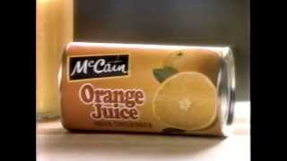 McCain Frozen Orange Juice Commercial 1990