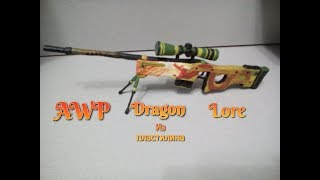 AWP Dragon Lore з пластиліну | Cs Go