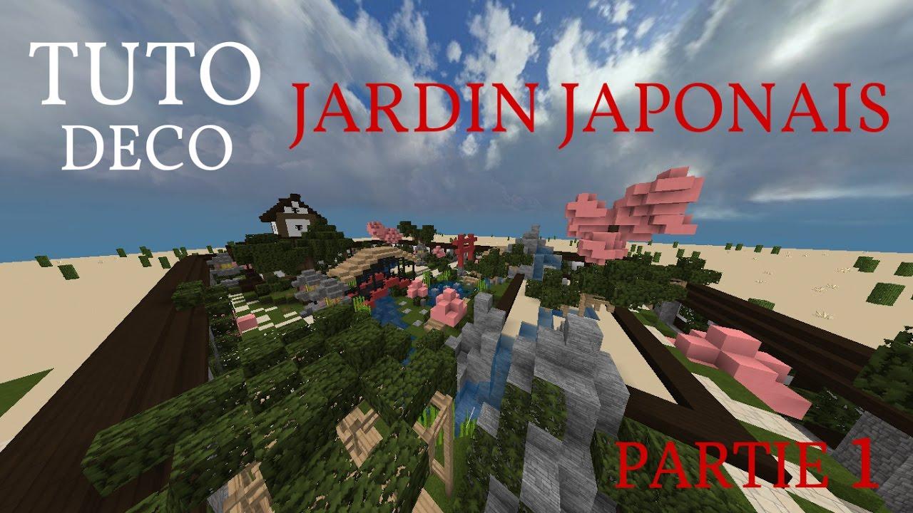 [MINECRAFT TUTO DECO] Jardin Japonais [Partie 1](+MAP)