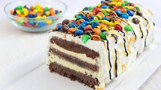 M&M Ice Cream Cake- Cremige Eistorte mit M&M's