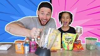 Mixing Slime and Food in a Blender!