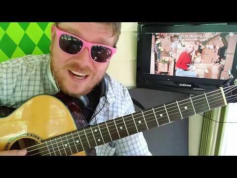 Julia Michaels - Hurt Again // Easy Guitar Lesson Tabs Easy Chords Strumming Tutorial