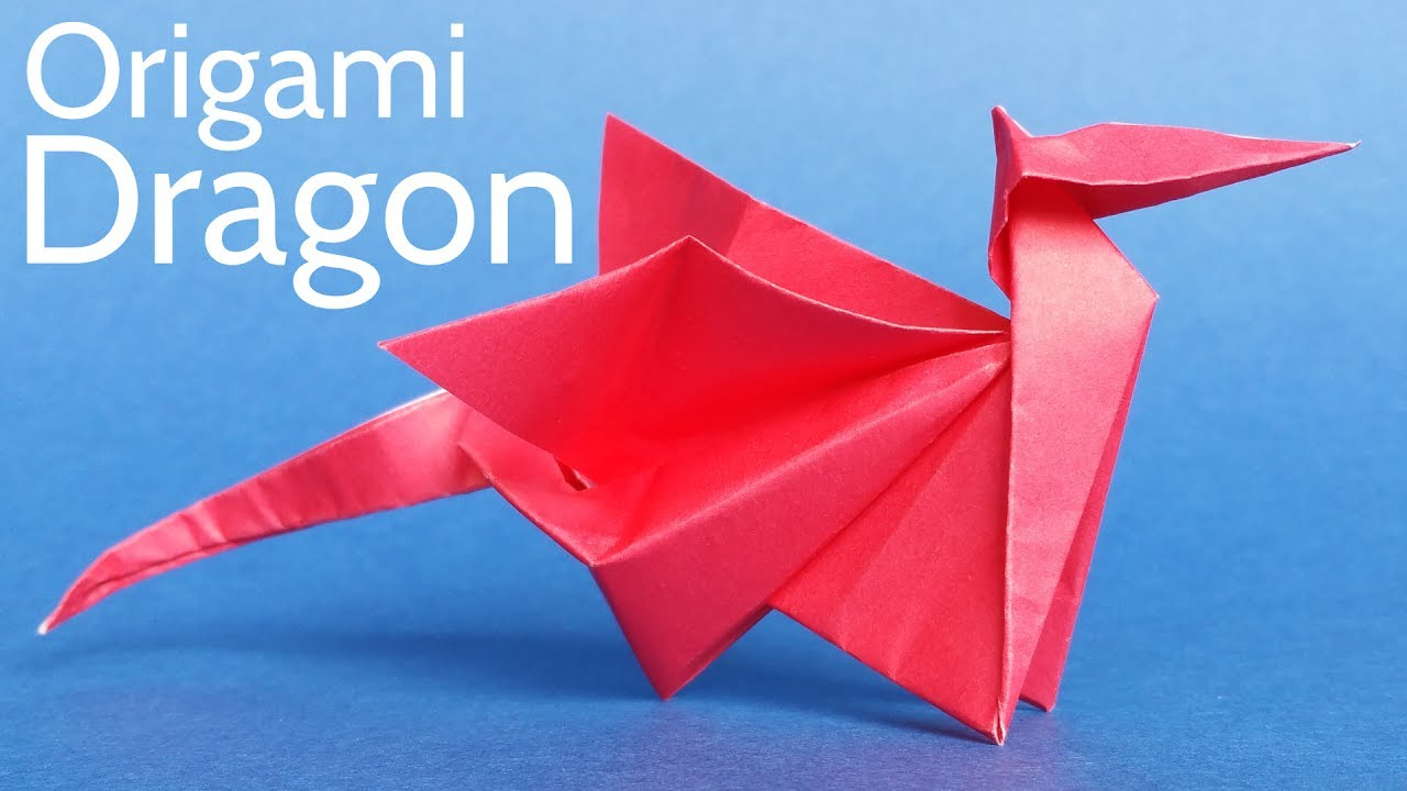 origami dragon facile youtube