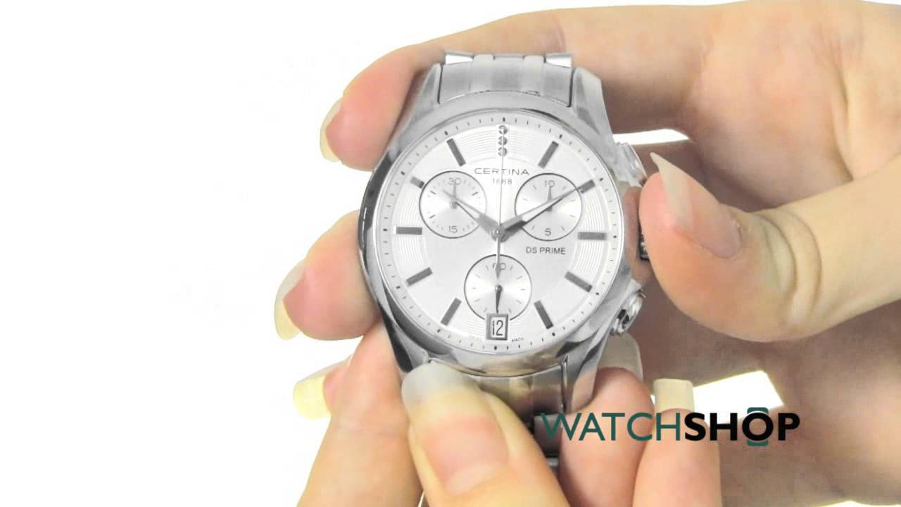 Certina Ladies  DS Prime Chronograph Watch (C0042171103600) - YouTube a559a4a2b77