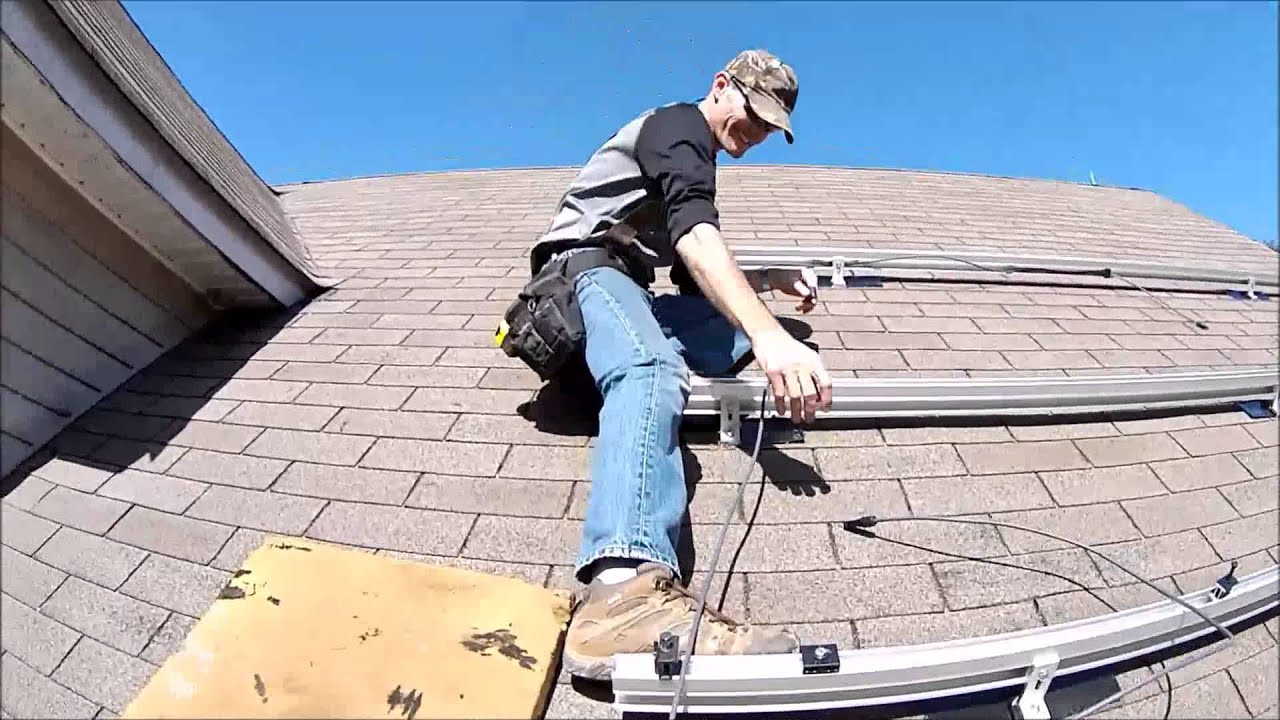 PV Wire Management (Snap N Rack Roof Mount) - YouTube