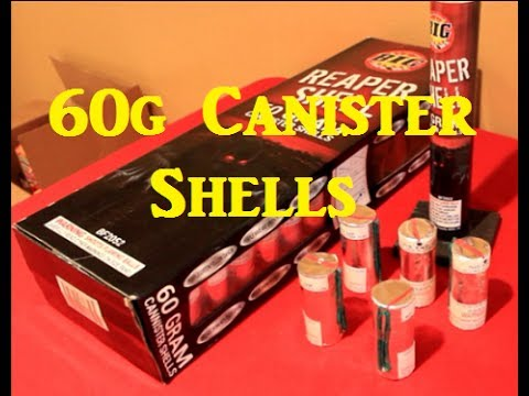 Reaper Shells - 60g Canister by BIG Fireworks - YouTube