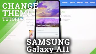 How to Change Device's Theme in SAMSUNG Galaxy A11 – Change Device's Menu Look screenshot 3