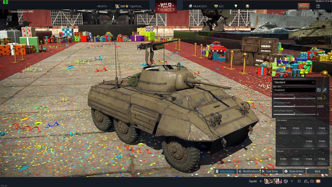 War Thunder - Received M8 Greyhound (United States Tier I Collectible  Armored Car)