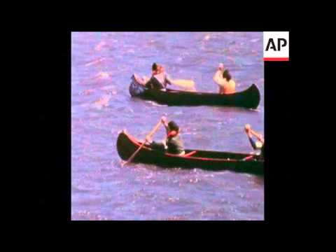 SYND 11-6-72 AMMUNITION SHIP BLOCKADED BY CANOES