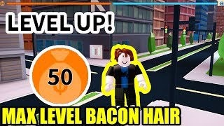 BACON HAIR se convierte en MAX LEVEL 50 en Jailbreak SEASON 2 (Roblox)