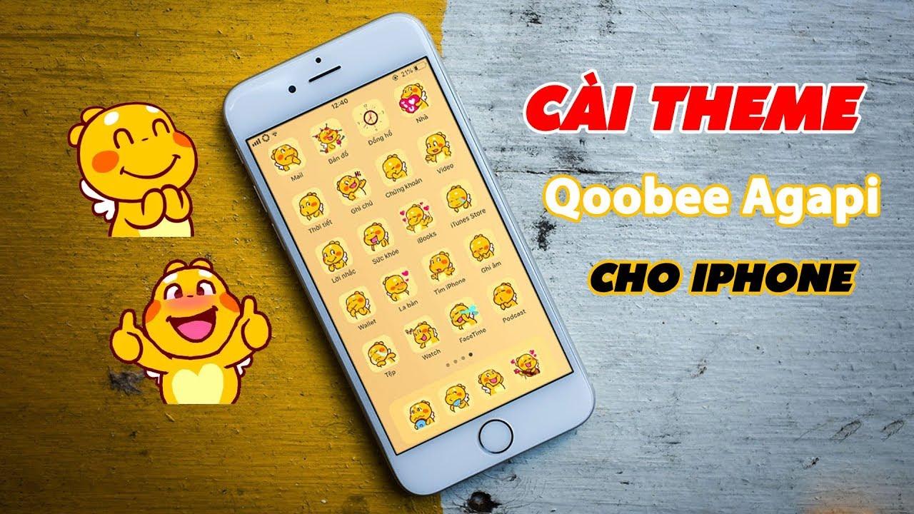 Cách Cài Theme Qoobee Agapi Cho iPhone Cực Đơn Giản | Truesmart