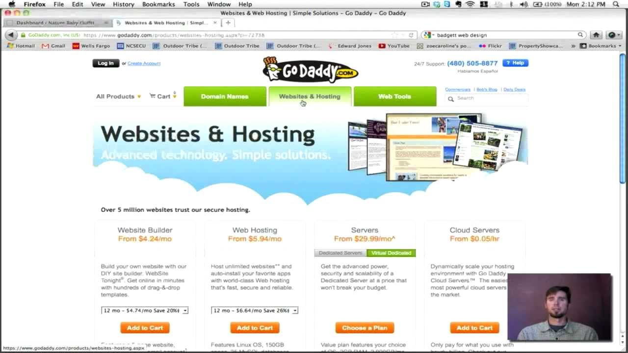 setting up hosting godaddy example