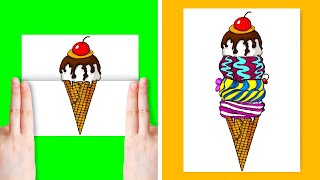 20 FUNNY DRAWING TRICKS || Relieve Your Stress by Drawing