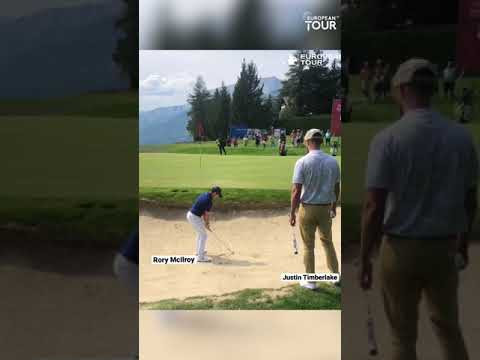 Rory Mcilroy gives Justin Timberlake a bunker lesson ⛳️  #shorts