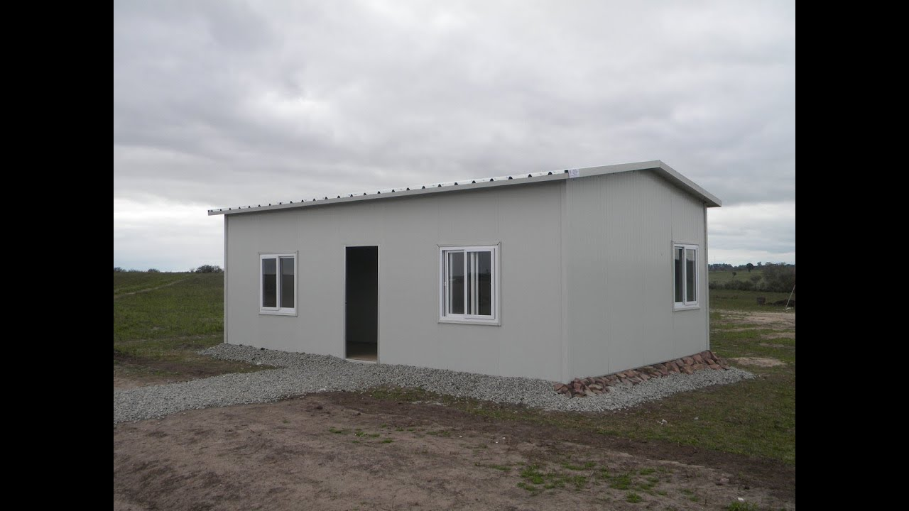 Prefab homes sandwich panels building youtube for Panel house construction
