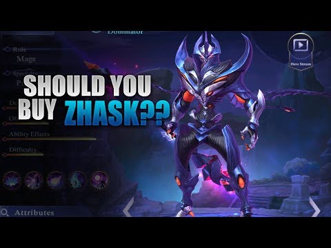 SHOULD YOU BUY ZHASK? 1000 DIAMONDS GIVEAWAY- MOBILE LEGENDS - GUIDE - GAMEPLAY
