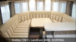 Hobby 770 CL Landhuis 3000,- KORTING