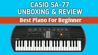 CASIO SA-77 Unboxing and Review Best casio for Beginners RAHULBNP