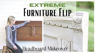 Headboard Makeover ~ Furniture Flip ~ DIY Bench ~ Bed Makeover ~ Headboard Idea ~ Paint and Glaze