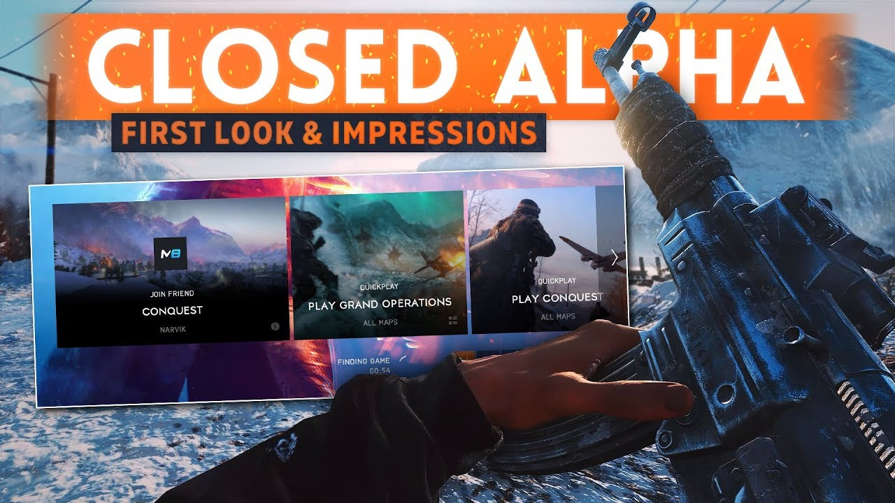 BATTLEFIELD 5 CLOSED ALPHA GAMEPLAY: First Look & Impressions - Is It Good? (BF5 Conquest Gameplay)