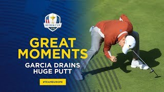 Sergio Garcia makes great putt to win the match | 2018 Ryder Cup