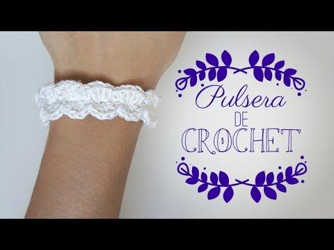 2d4ce72fff24 DIY Pulsera de crochet - SUPER FÁCIL