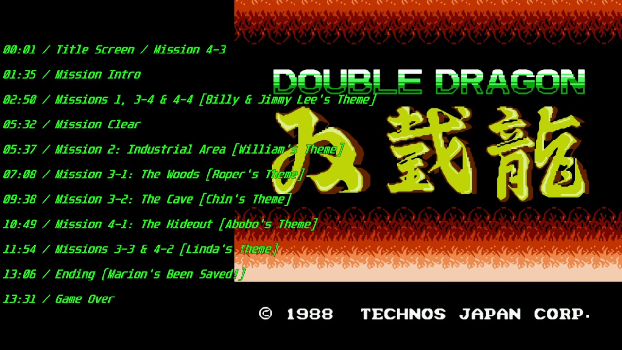 double dragon soundtrack