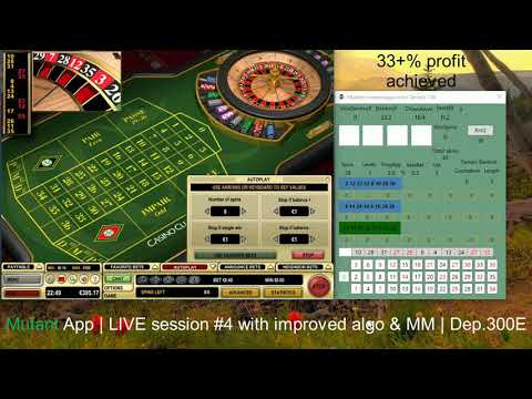 Mutant App | LIVE Play #4 | Online Roulette Systems| Casino Club