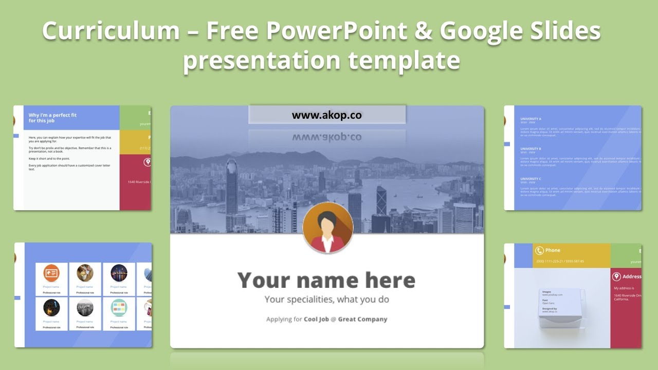 Free portfolio powerpoint template google slides template youtube free portfolio powerpoint template google slides template maxwellsz