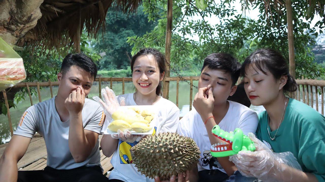 Thử thách khám răng cá sấu và phản ứng của team Giàng A Pháo khi lần đầu ăn Sầu Riêng