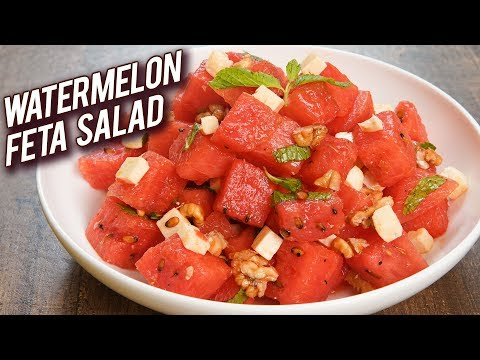 Quick And Easy Salad Recipe - Watermelon Feta Salad Recipe - Summer Special Recipe - Bhumika