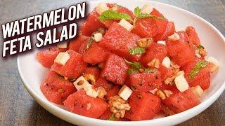 Watermelon Feta Salad Recipe - Summer Special Recipe - Homemade Watermelon & Feta Salad - Bhumika