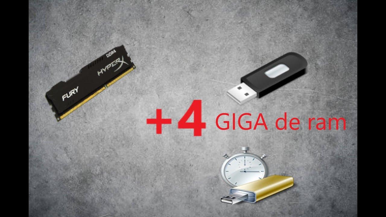 Download [TUTO] Comment rajouter de la ram avec une clé USB (+4 giga de ram )